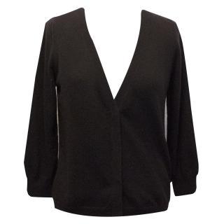 Bottega Venetta Dark Plum Knitted Cashmere Cardigan