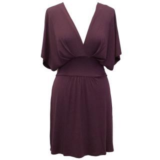 Heidi Klein Plum Purple Modal Jersey Tunic