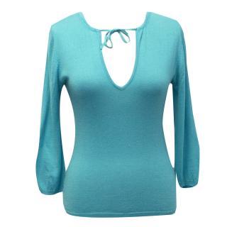 Bye Knitwear Turquoise Silk & Cashmere Jumper