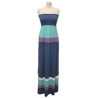 Ella Moss Blue Stripe Maxi Dress