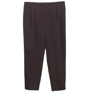 Bottega Veneta Dark Plum Tailored Trousers