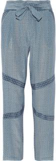 Paul and Joe 'Halki' Blue Silk Patterned Trousers