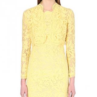 Emilio Pucci Yellow Lace Bolero Jacket