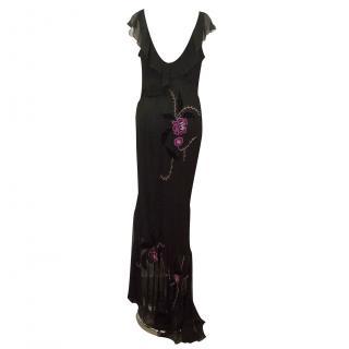 Anoushka G Silk Embroidered Dress