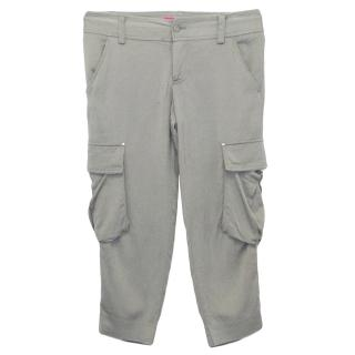 Alice and Olivia Grey Cropped Cargo Pants