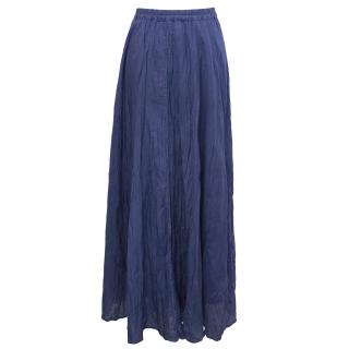 Gerard Darel  Blue Long Silk Skirt