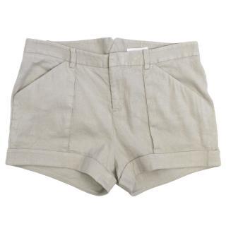 Helmut Lang Grey Linen Shorts