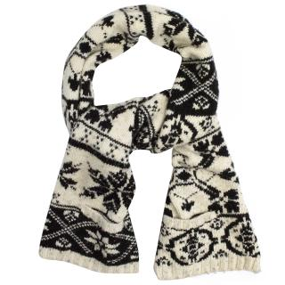Joseph Cream and Black Chunky Scarf