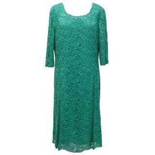 Caroline Charles 'Lou Lou' Green Lace Dress