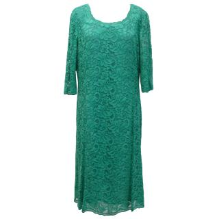 Caroline Charles 'Lou Lou' Green Lace Dress