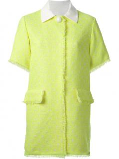 Love Moschino Lime Green Cotton Coat