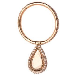 Nina Rumsdorf 18k pink gold Flip ring with champagne diamond