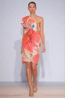 Nicole Farhi Crushed Petal silk cotton dress