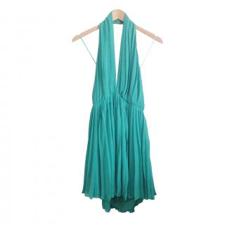 Green Halston Heritage Marilyn dress