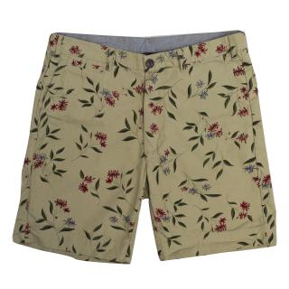 Penfield Beige Gill Shorts with Colourful Botanical Print