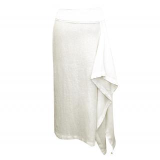 Michael Kors Off White Linen Skirt