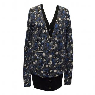 Markus Lupfer 2 in 1 Blue Floral and Black Cardigan