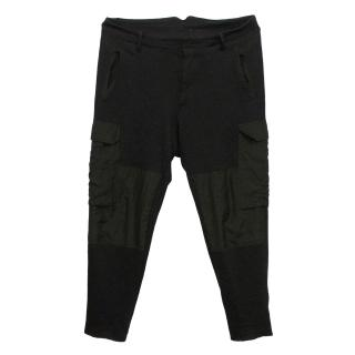 Alexander McQueen Black Zip Trousers