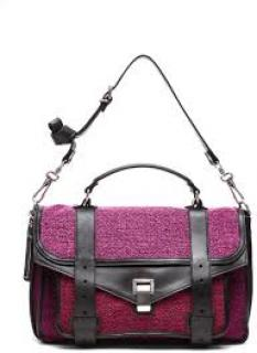 Proenza Schouler PS1 Pink Tweed Leather