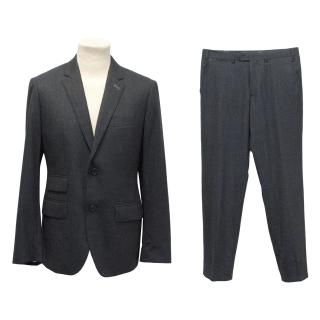 J. Lindeberg Dark Blue Tailored Wool Suit Jacket and Trousers