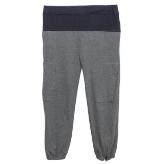 Stella McCartney Navy and Grey Sweatpants