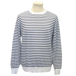 Beams Plus Navy Striped Jumper