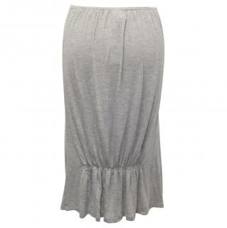 Future Ozbek Grey Stretch Skirt