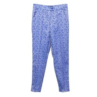 Missguided Blue Paisley Print Trousers