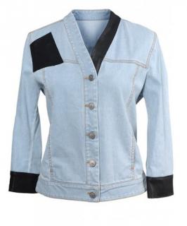 Alexander McQueen Denim & Leather Jacket