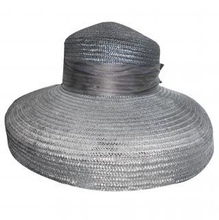 Harrods large rimmed black hat