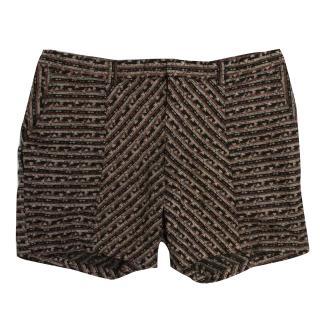 Aqua By Aqua Black, Red, Cream Tribal Printed Hector Shorts