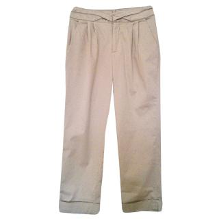 Adam Lippes Beige Cotton Trousers