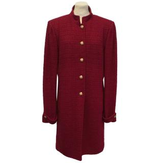 St Johns Collection Red Tweed Coat