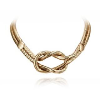 Gucci Square Knot toggle close 18k yellow gold necklace