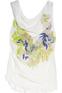 Vanessa Bruno Appliqued silk top