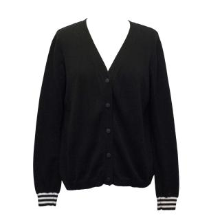 Claudie Peirlot Black Cardigan with White Silk Pleating detail