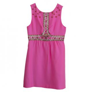 Tibi beaded silk dress