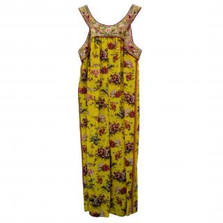 Jean Paul Gaultier Chinese Floral Silk Dress