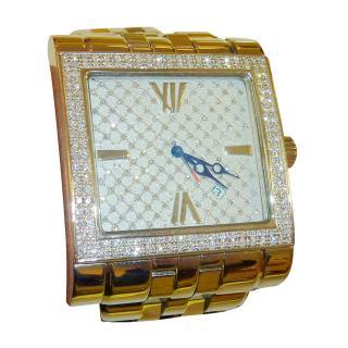 Ritmo Mundo Palazzo full diamond face and bezel unisex dress watch