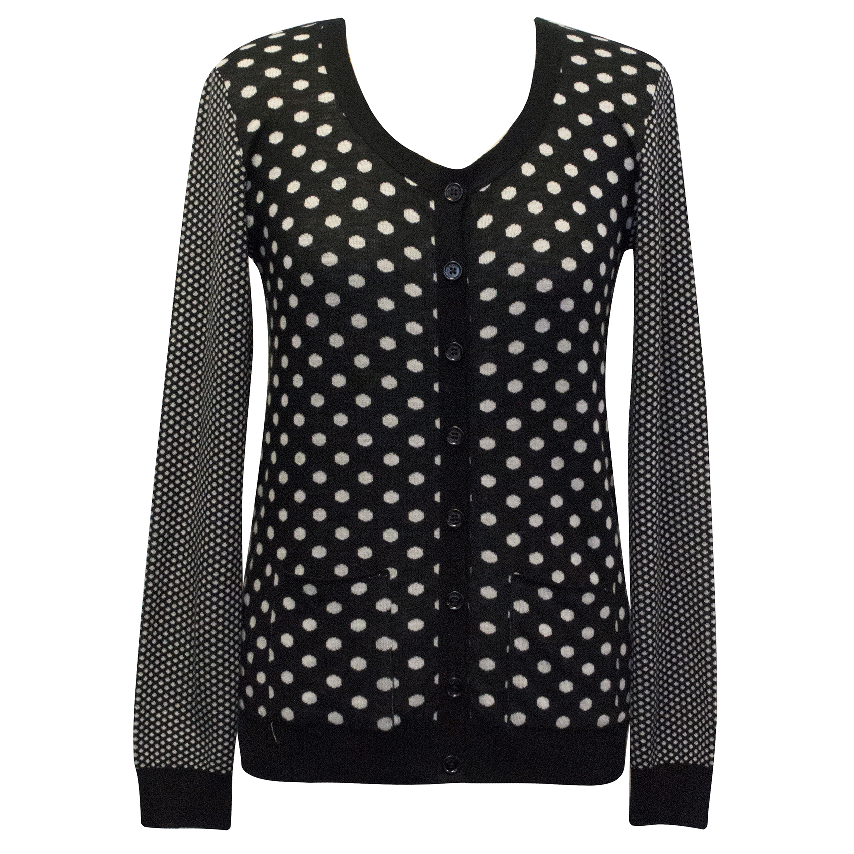 Sonia by Sonia Rykiel Cotton Polka Dot Cardigan