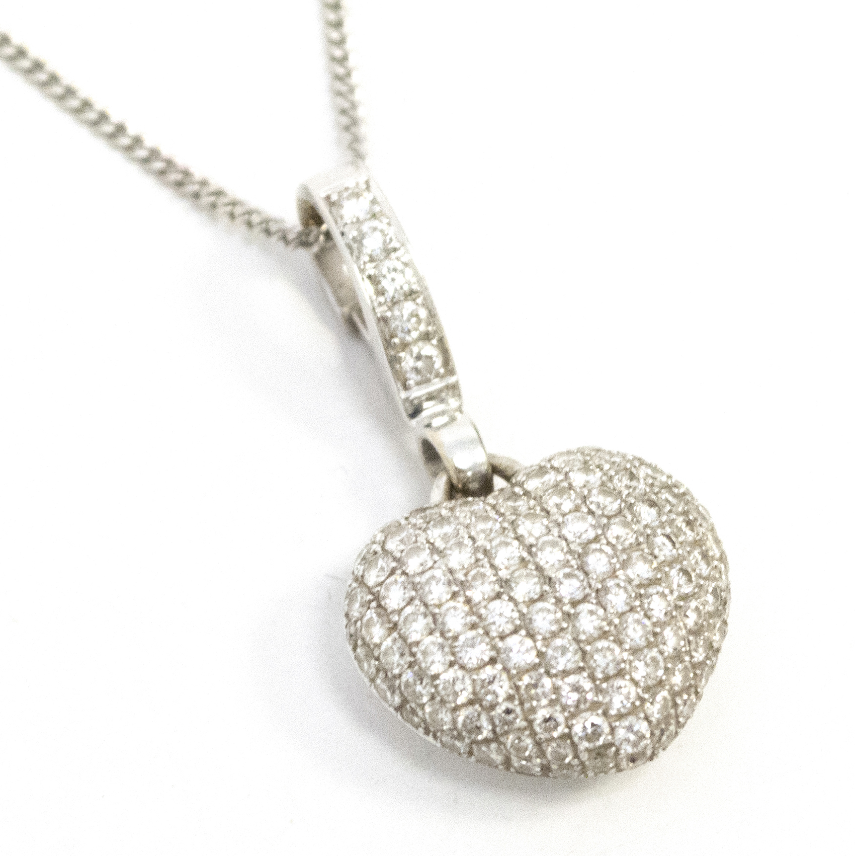 Theo Fennel 'Art' Heart Diamond Pendant and White Gold Chain
