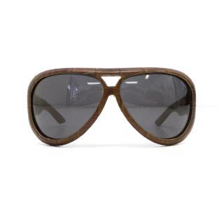 Dior Brown Crocodile Sunglasses