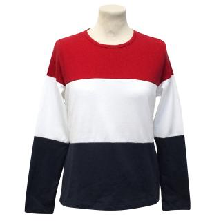 Solid & Stripe Red,White and Blue The Long Sleeve Island Knit Top