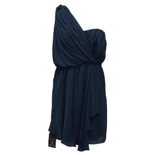 Tibi Silk Asymmetric Cocktail Dress