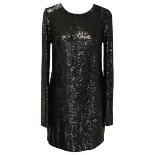 Ashish Black Sequin Dress