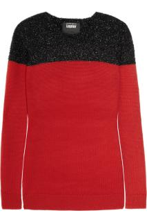 Markus Lupfer Red Jumper with 'Tinsel Panel'