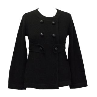 Goat Library Black Merino Wool Knitted Cardigan