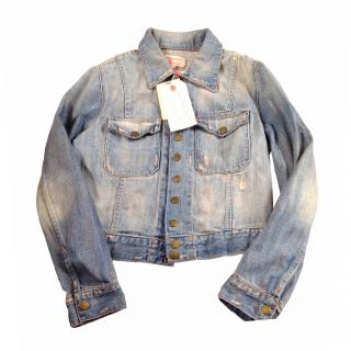 Current Elliott distressed denim jacket