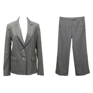 Farhi Grey Wool Wool Trouser Suit