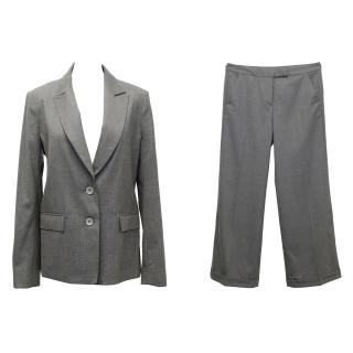 Farhi Grey Wool Wool Trouser Suit